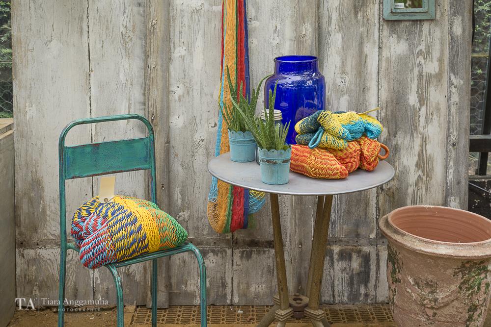 Beautiful summer colours in Petersham nurseries shop.