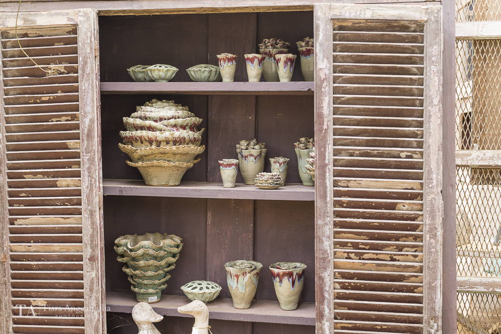 Rose and cabbage vases for sale.