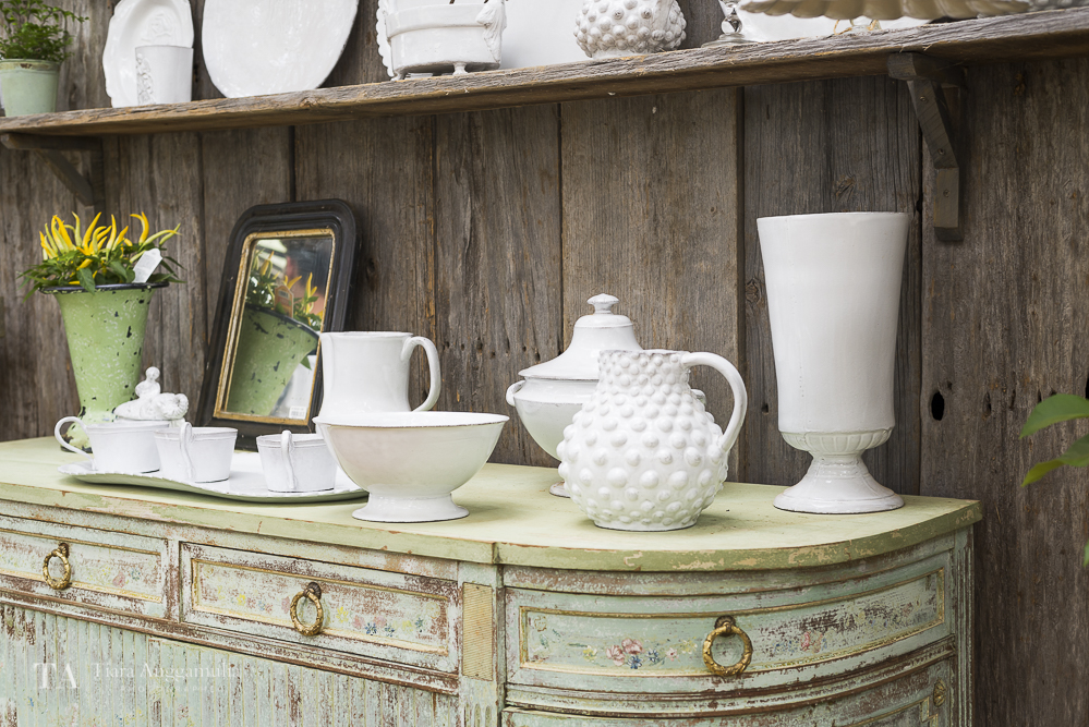 Astier tableware collection inside Petersham Nurseries shop.