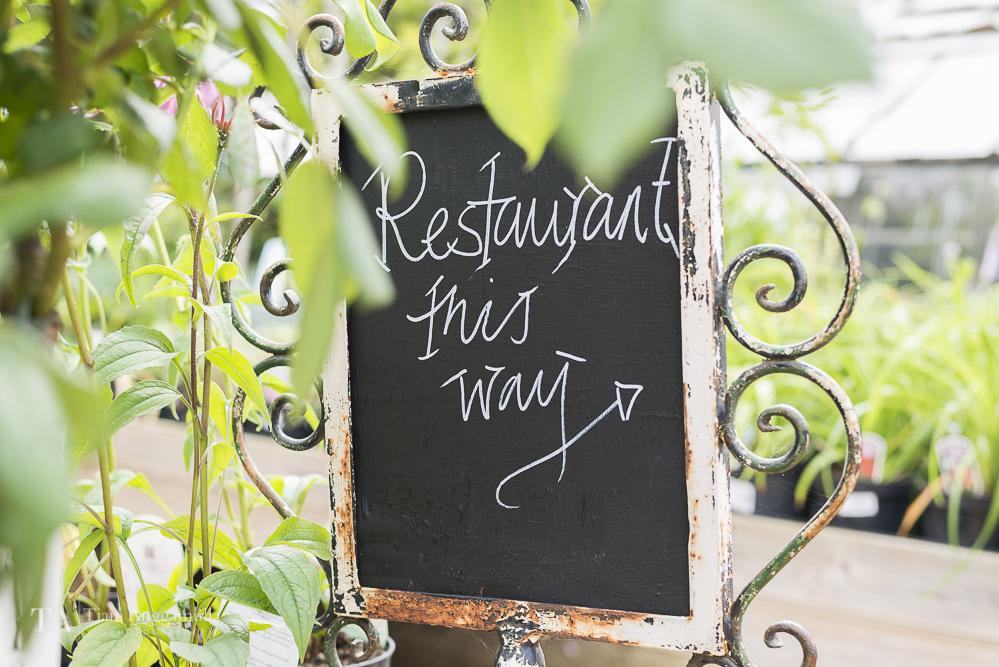 Restaurant signage.