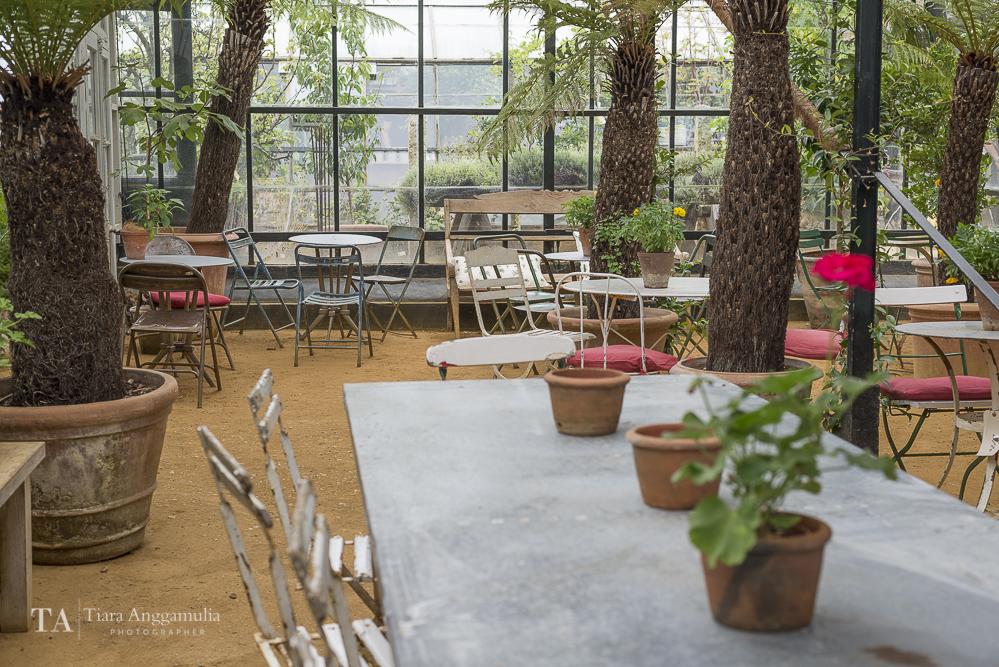 The garden cafe at Petersham Nurseries.