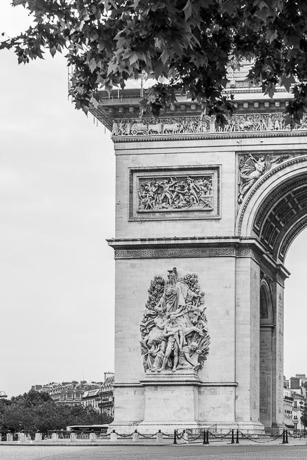 A view towards Arc de Triomphe.