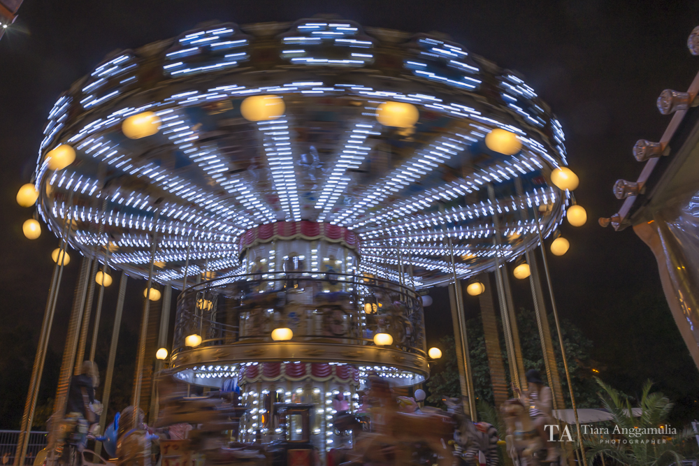 Merry Go Around at night time.