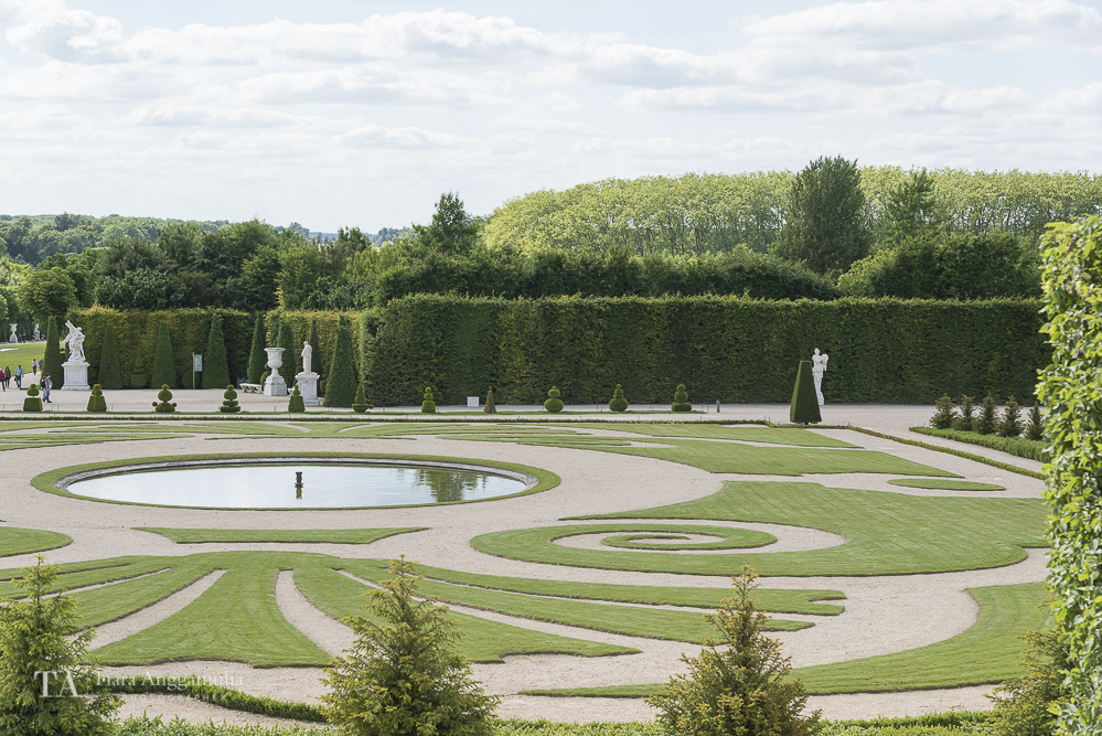 The garden of Versailles.