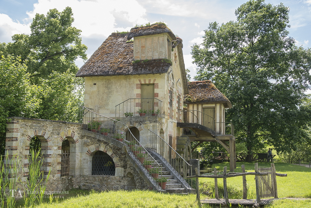 The windmill house in Marie Antoinette's estate.