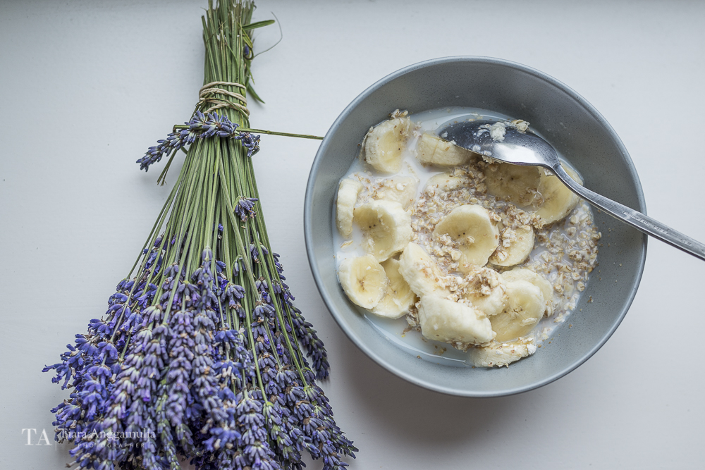 Oats and bananas for breakfast.