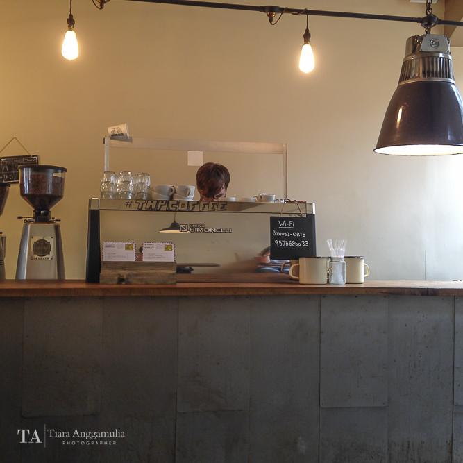 Coffee making station inside TAP Coffee.