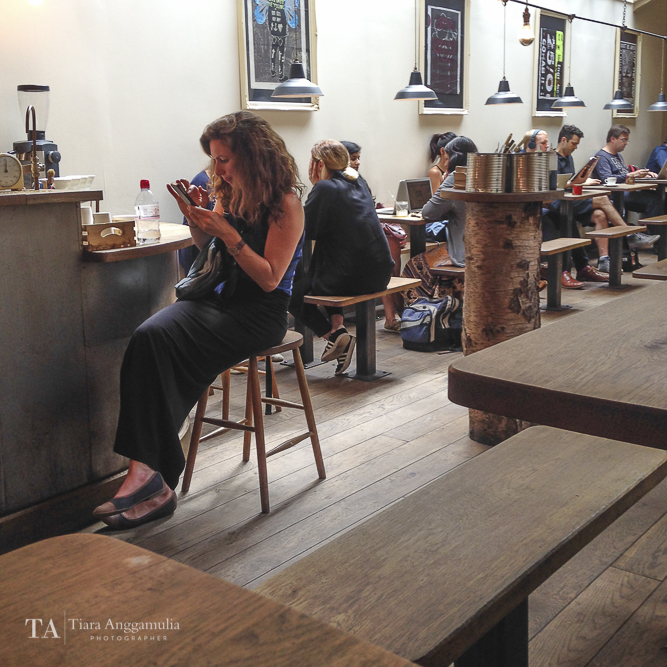 Customers at TAP Coffee.