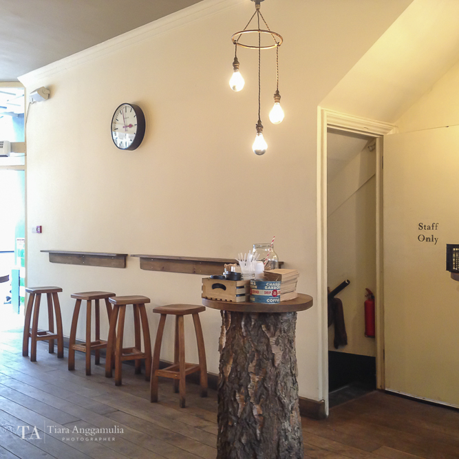 Lovely interior inside TAP Coffee.