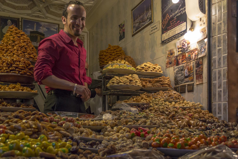A snacks vendor inside the souks in Marrakech.jpg