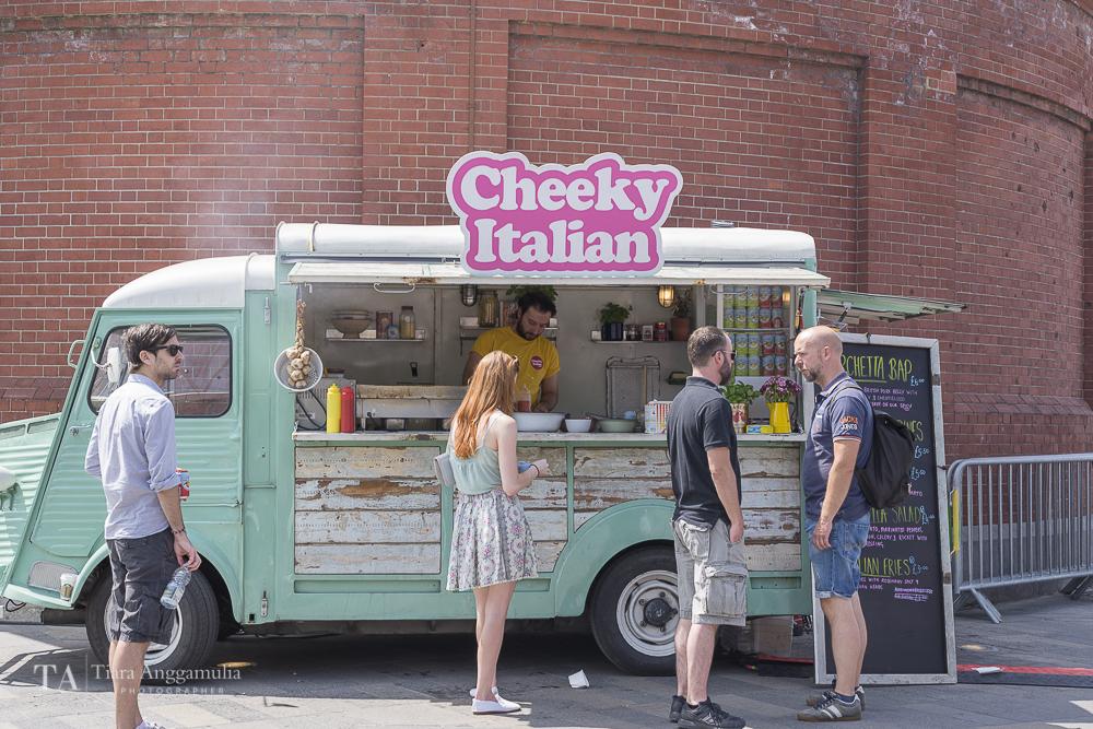 Cheeky Italian street food vendor during Greenwich + Docklands International Festival.