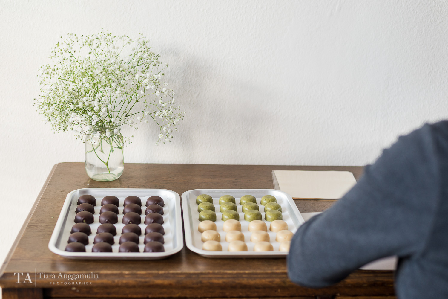 Iren getting ready to package Raw Bonbon.