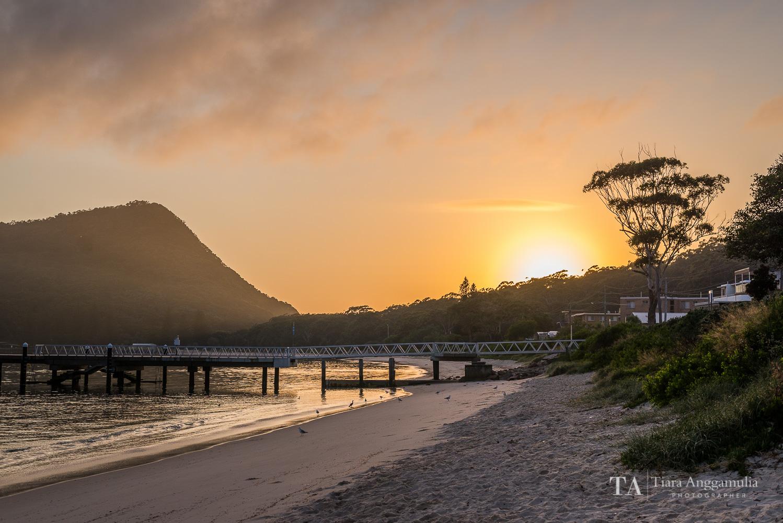 Sunrise at Shoal Bay.