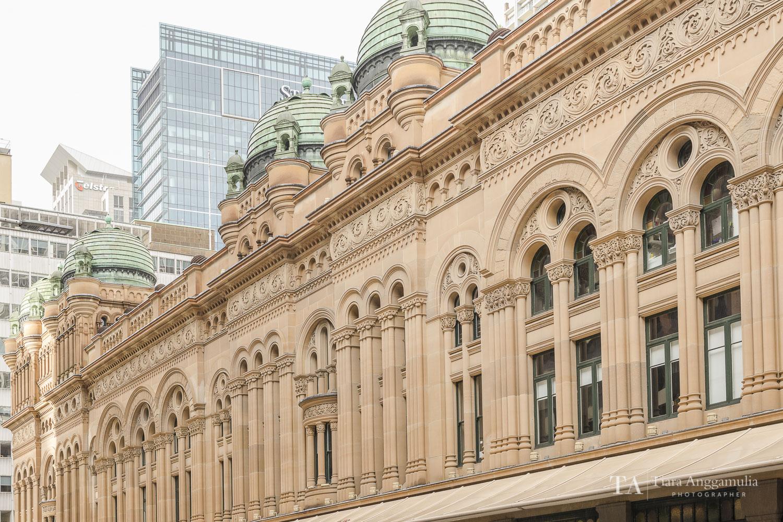 The exterior of Queen Victoria Building.