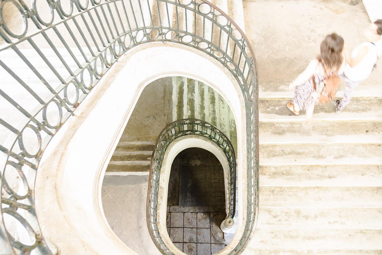 The spiral staircase in Mercado do Bolhao.