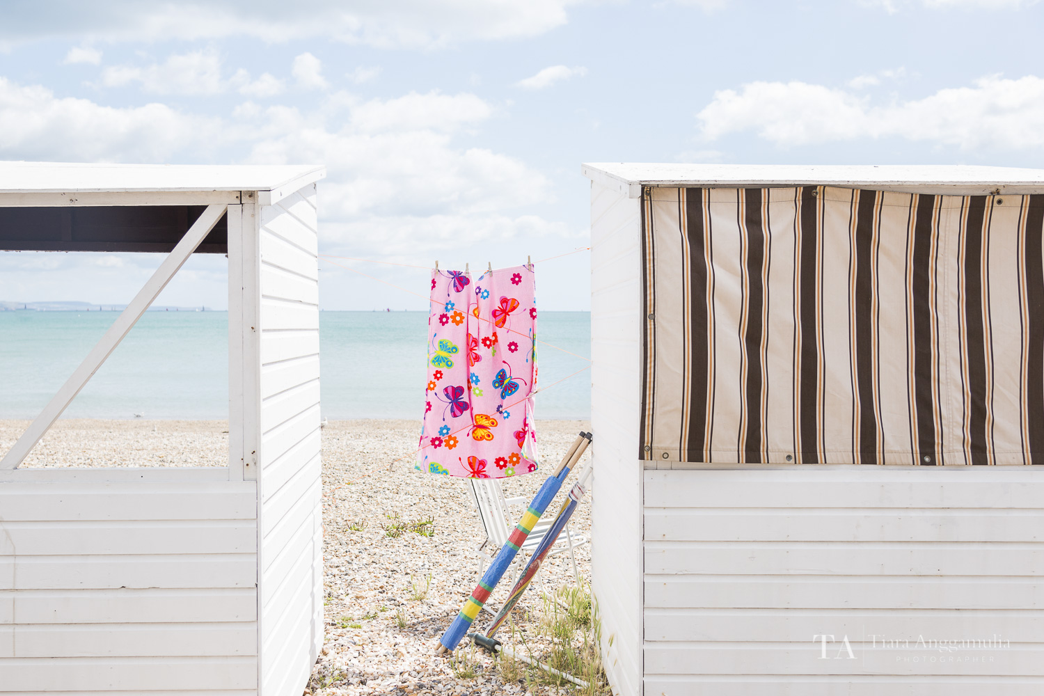 Chalets for hire on Weymouth's beachfront.