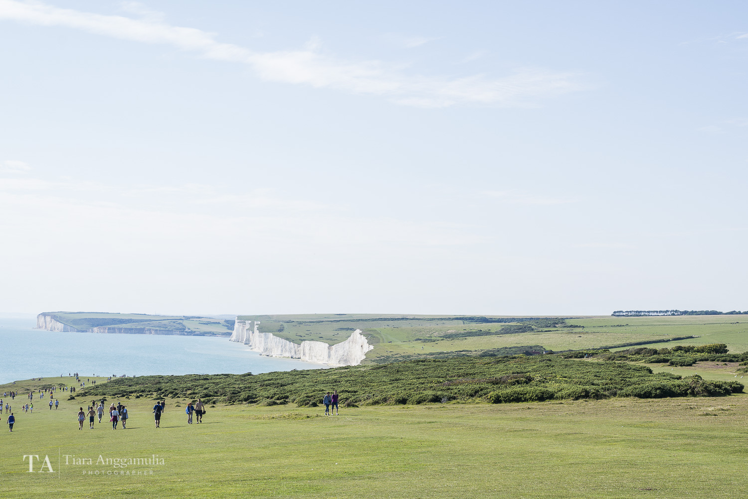 Looking down towards the Seven Sisters.