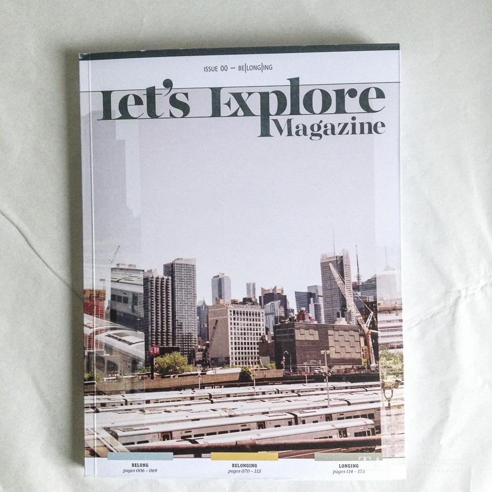The front cover of Let's Explore Magazine.