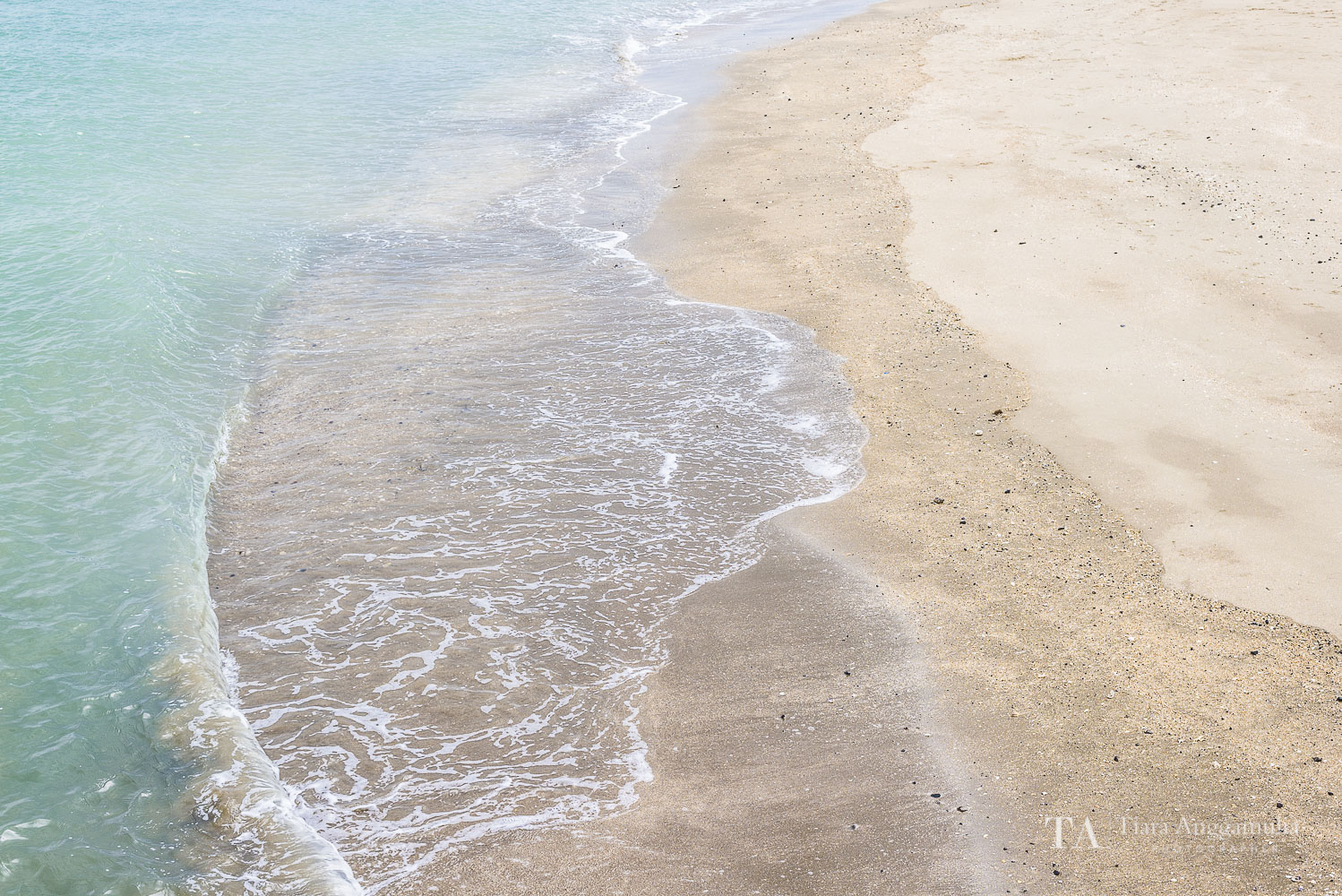A close up detail of the beach in Devonport.
