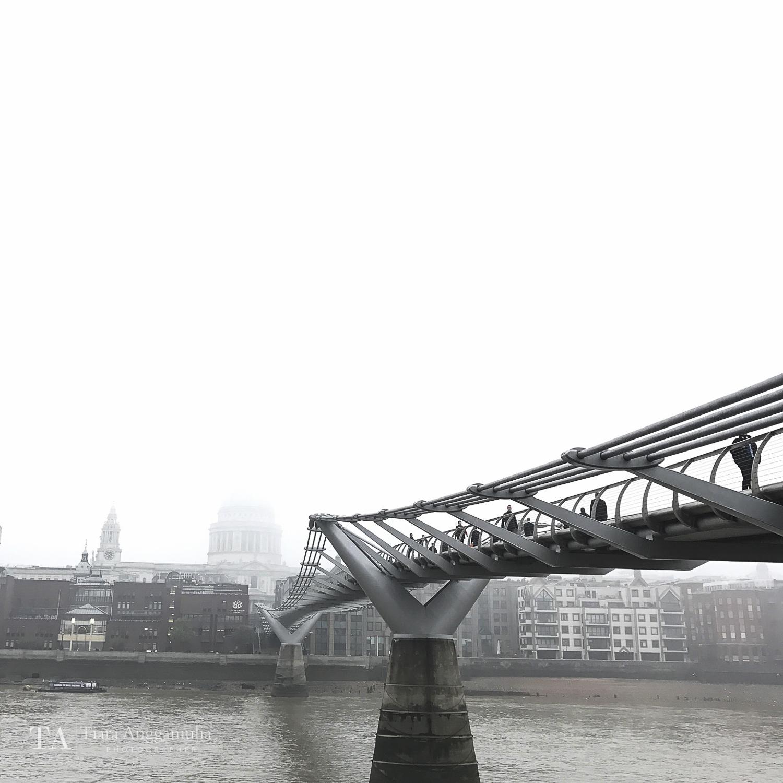 A view towards the Millennium Bridge.