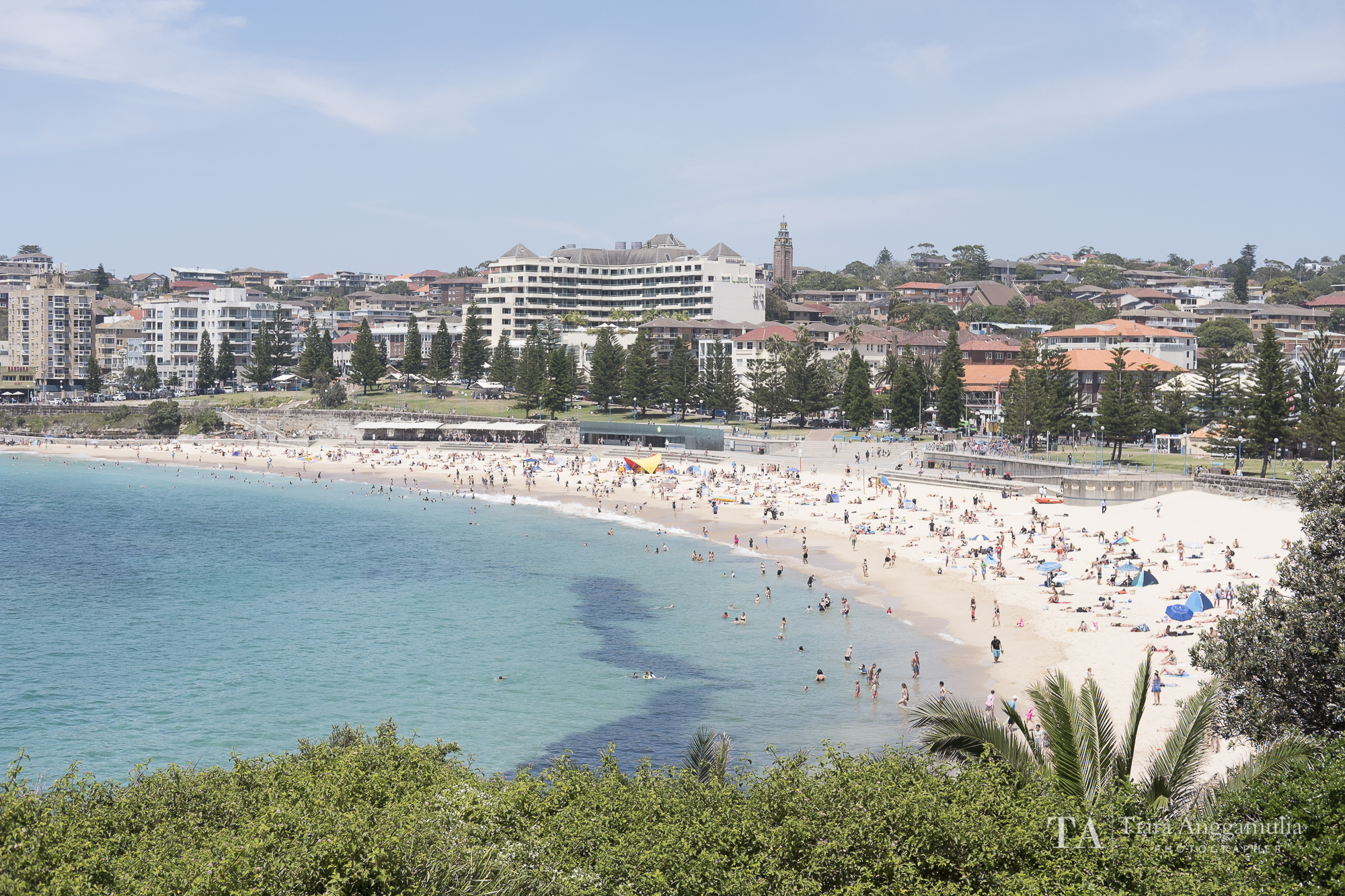 A view towards Coogee Beach.
