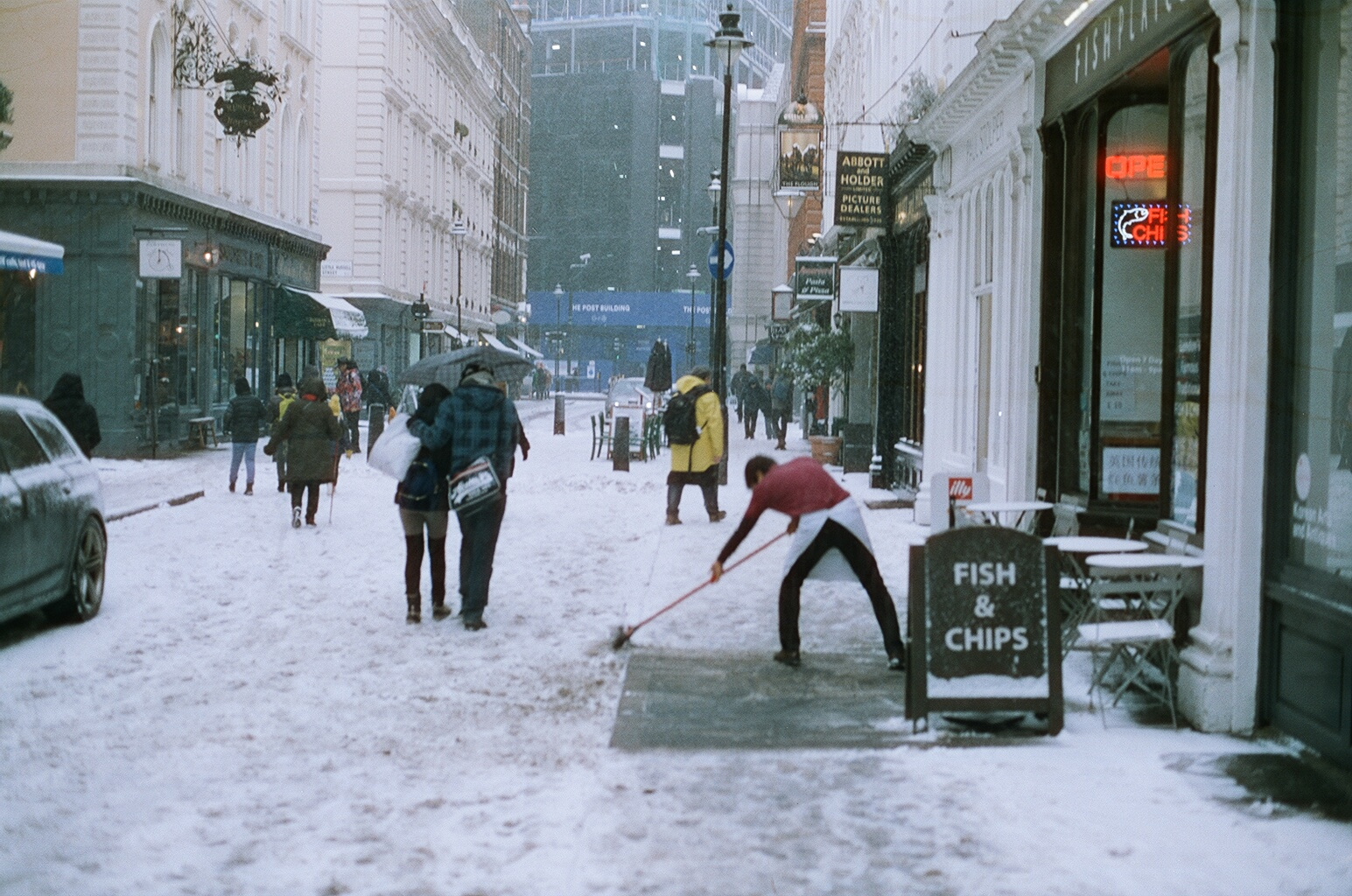 Snow day, Bloomsbury