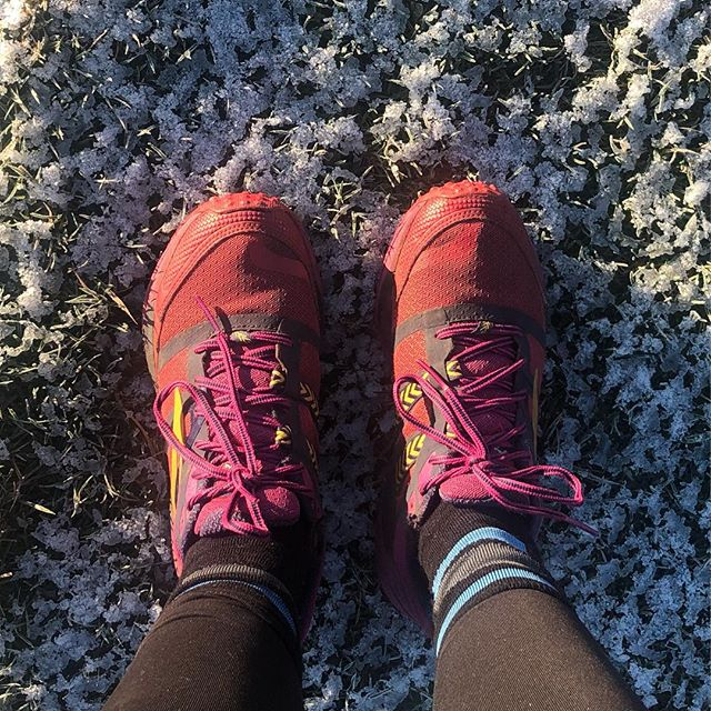 - Frosty grass ✅ - Slippy mud ✅ - Icy water ✅ - Frozen puddles ✅ - Sliding on ice onto my bum ✅ - Being jumped on by 2 separate dogs ✅  All in all a fun and adventurous 7 mile run! . . . . . #wimbledoncommon #frost #runner #ultrarunner #triathlontraining #footselfie #trailrunning