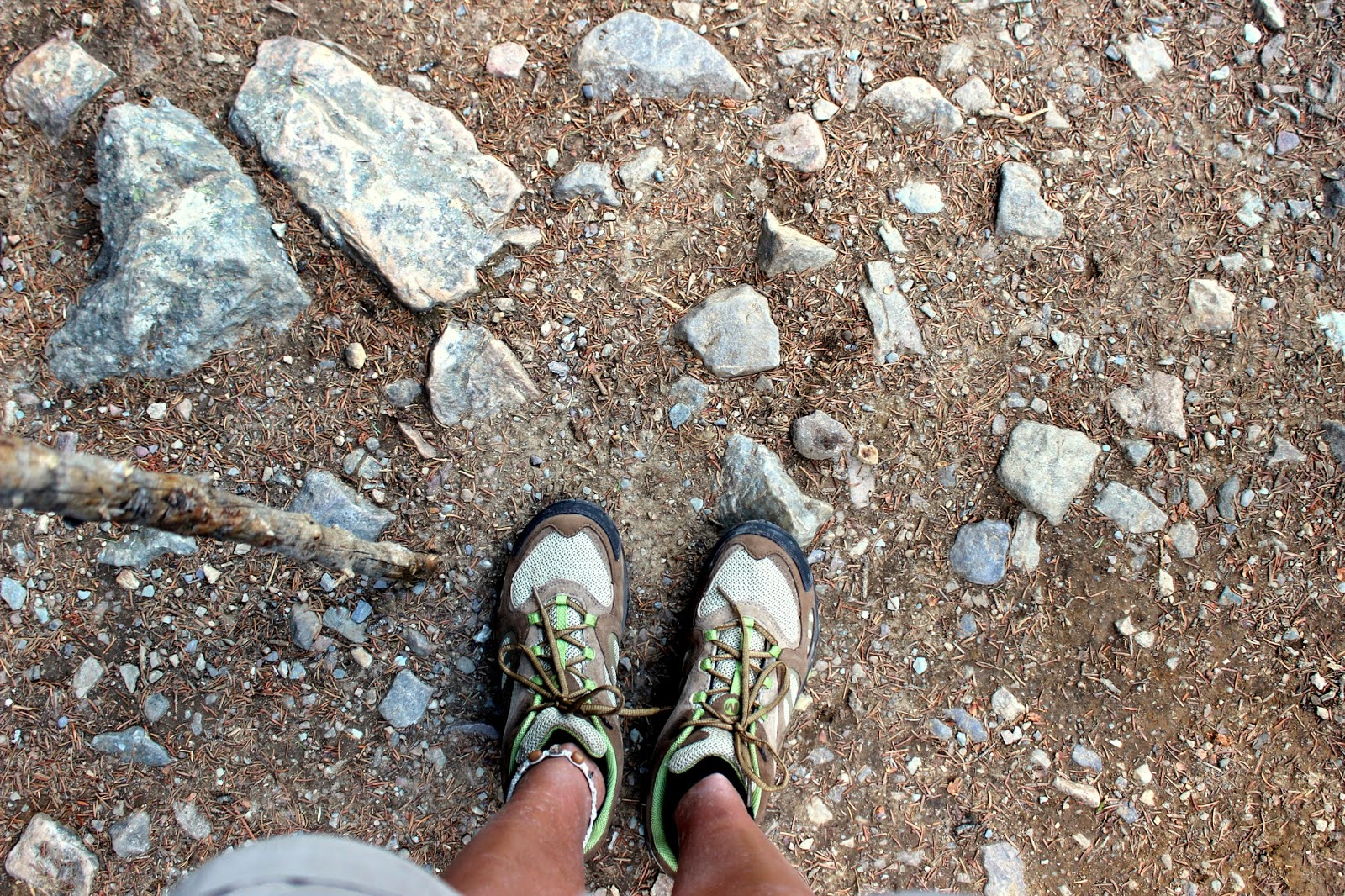 Yes, my very first pair of Hiking Shoes!