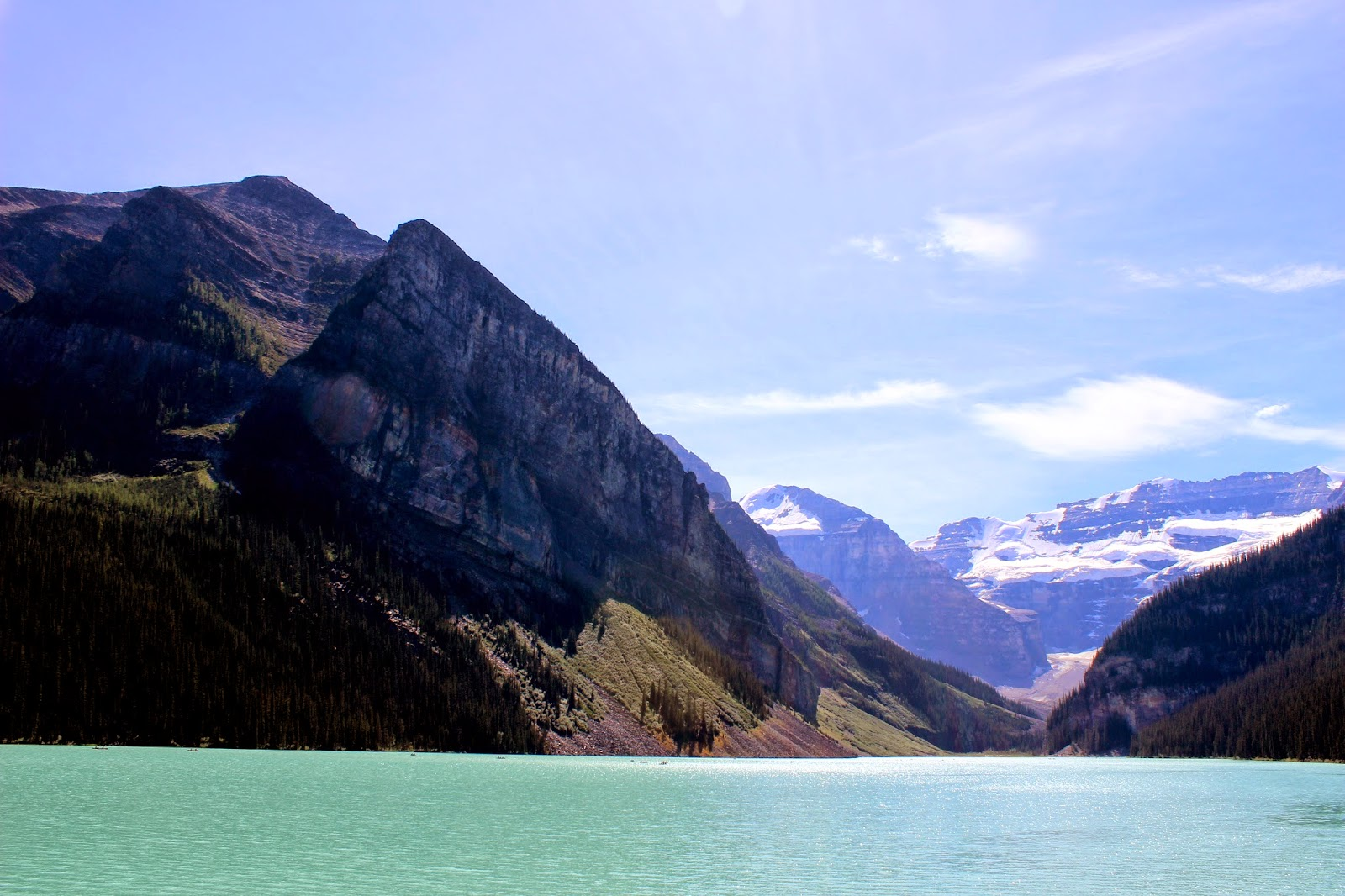 Mount Fairview to the left at Lake Louise