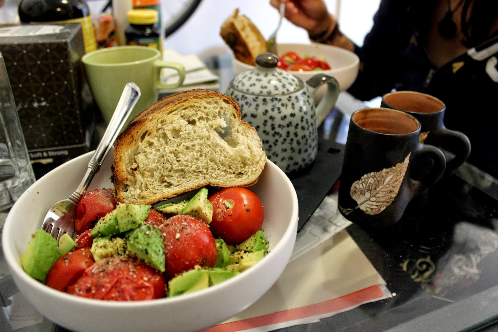 Carla's Boiled Tomatoe & Avocado Salad  LOVED IT! ♥.♥