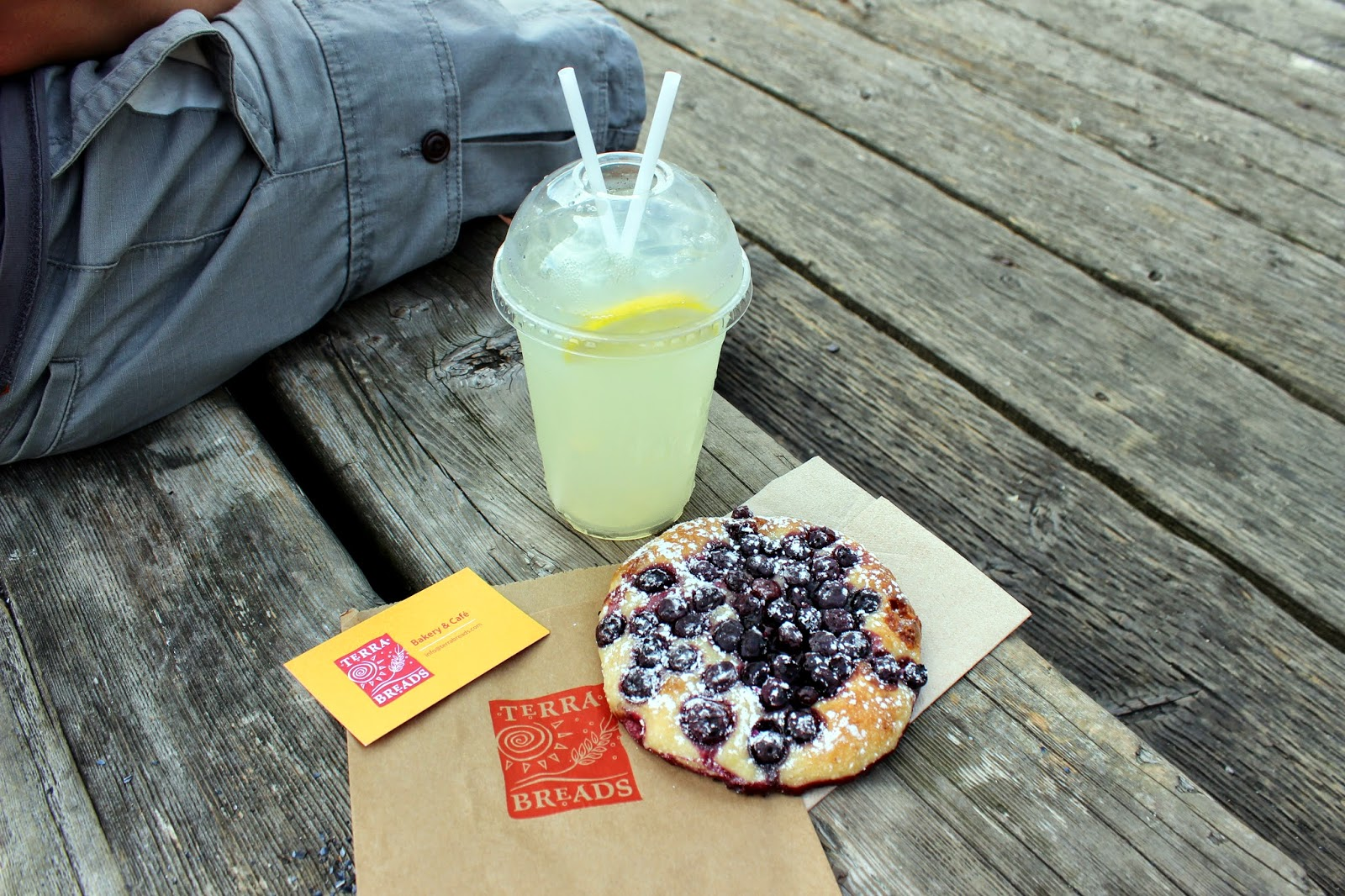 On Granville Island // Vancouver  Terra Blueberry Bread & Lemon Ice Tea  Highly Recommended!