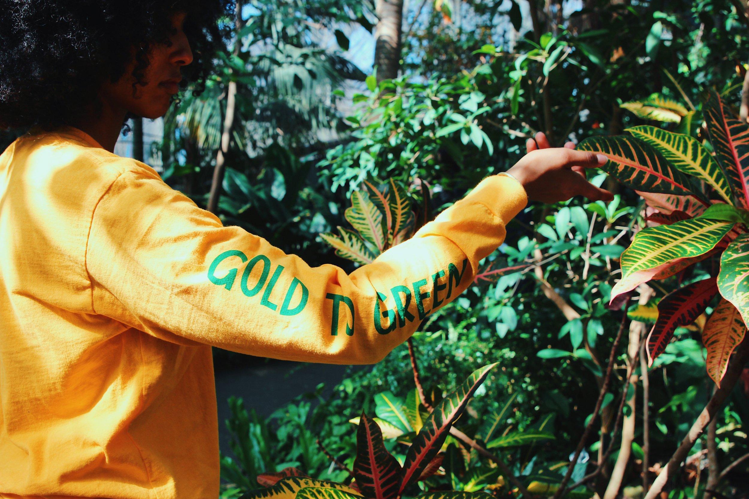 Pictured is dear friend  @mekdesmersha  wearing the first GOLDTOGREEN tee.