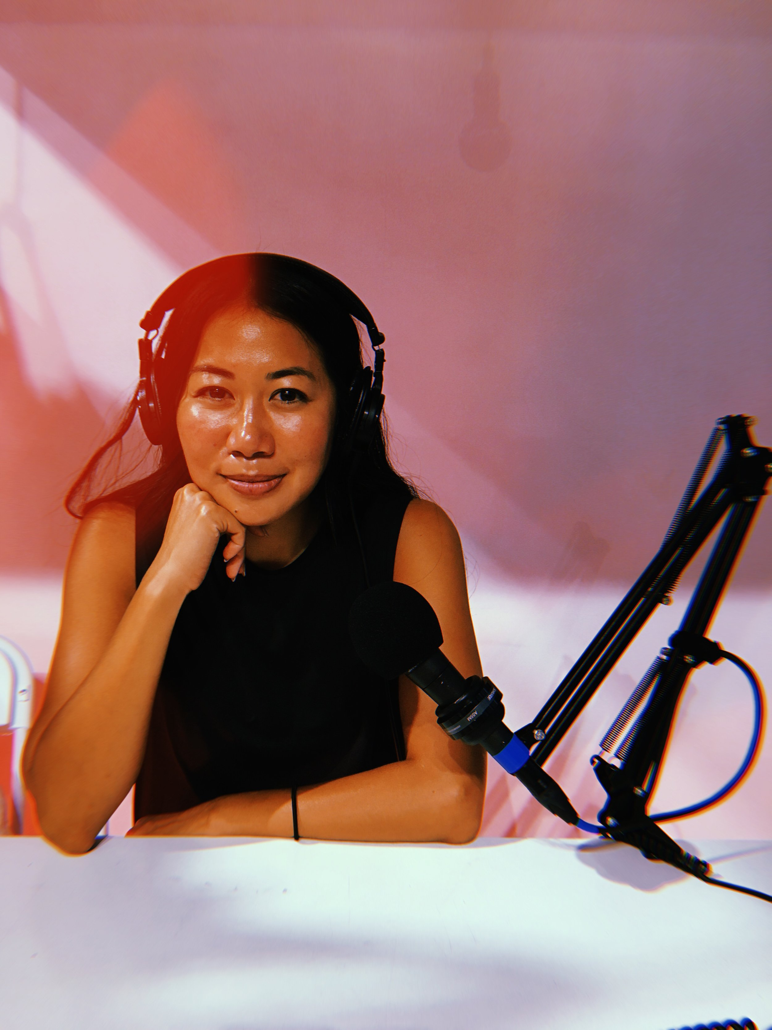 Here you see Stephanie inside the audio studio at Canal Street Market. We recorded this episode in early September 2018.