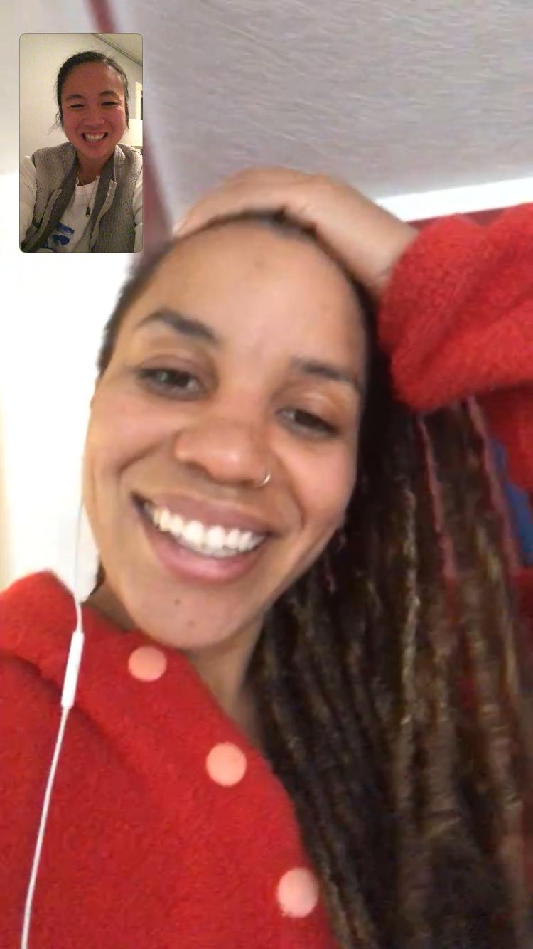 Facetime with sister  Faith . She always calms my heart and mind.