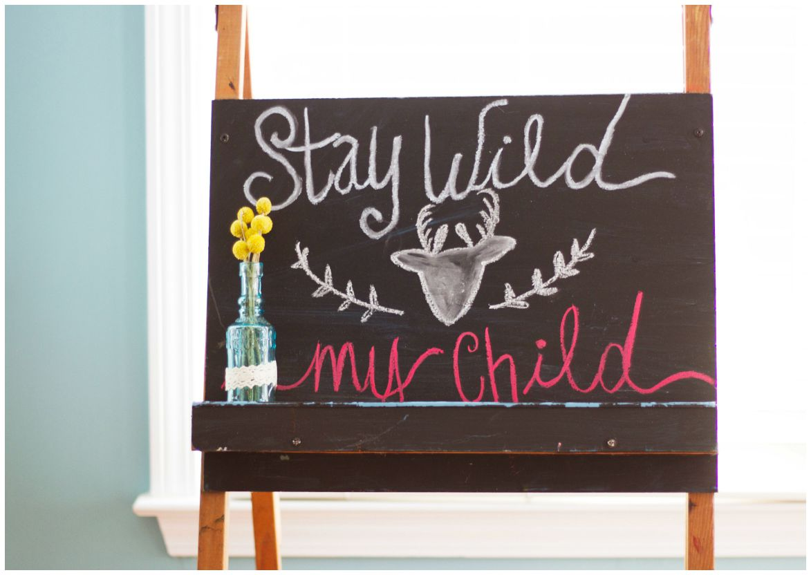 Of course my love for calligraphy came through with chalkboard signs. :)