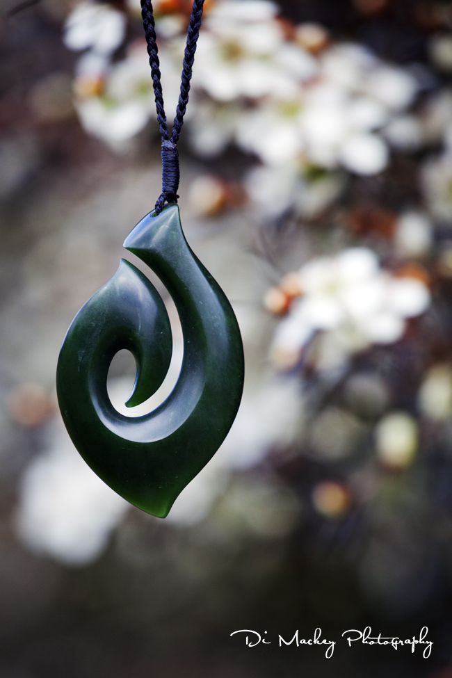 Hei Matau is a jade carving in the shape of a highly stylised fish hook typical of the Māori people of New Zealand. They represent strength, good luck and safe travel across water.