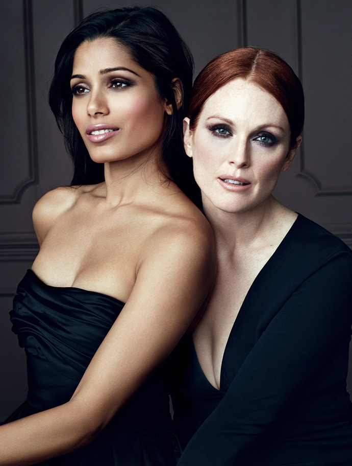 Julianne Moore with Freida Pinto from the Collection Privee Advert