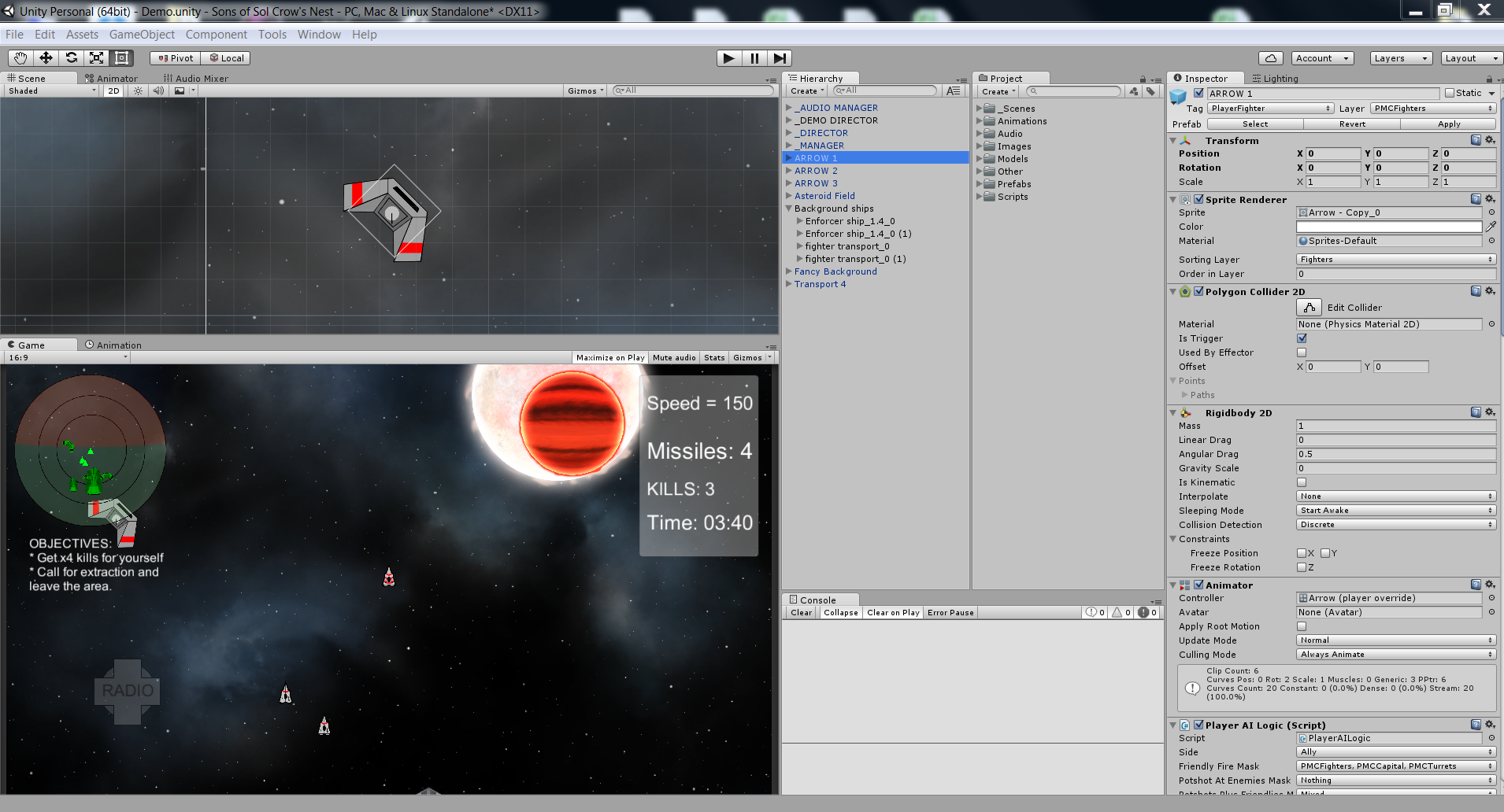 At work in Unity