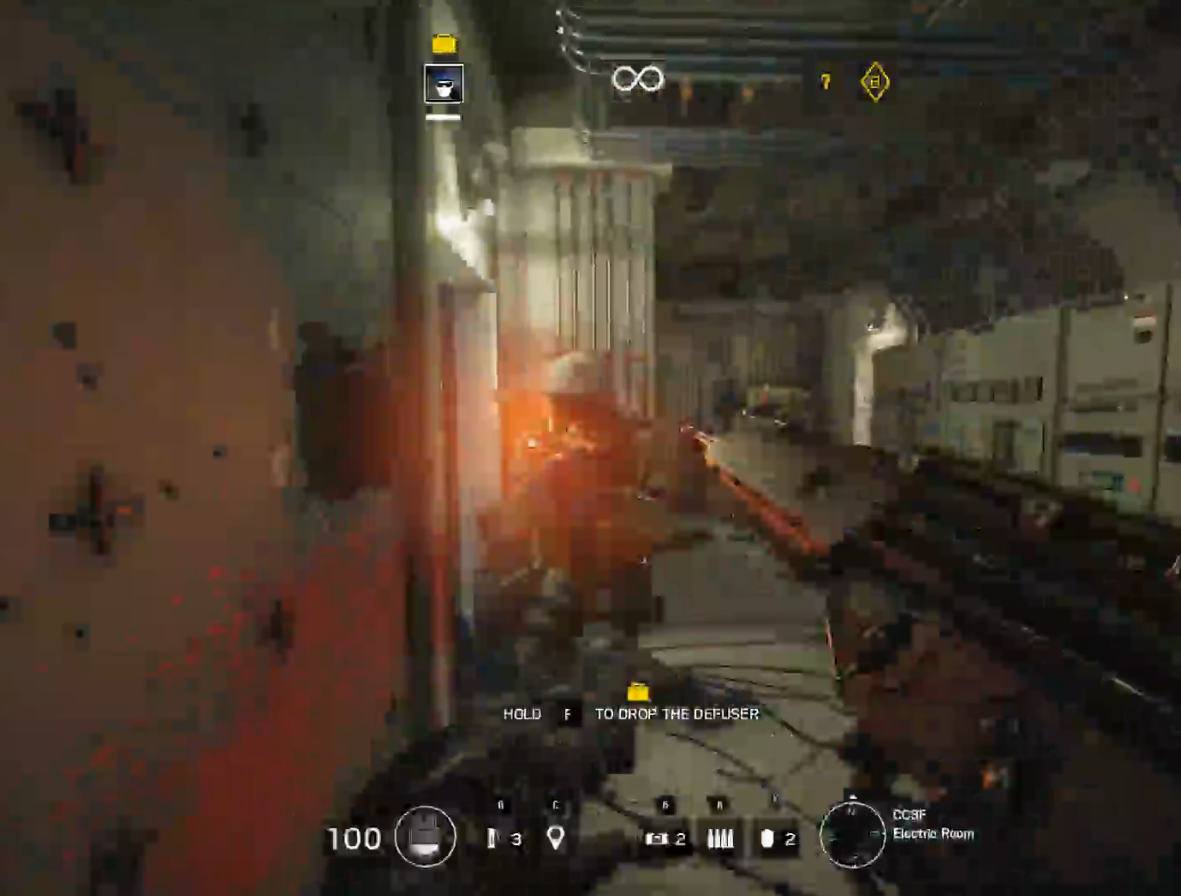 Back to the wall + gun reloading + bomber comes around the corner = dead!