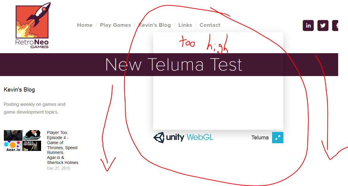 A failed attempt at integrating WebGL onto the site. It also didn't execute.