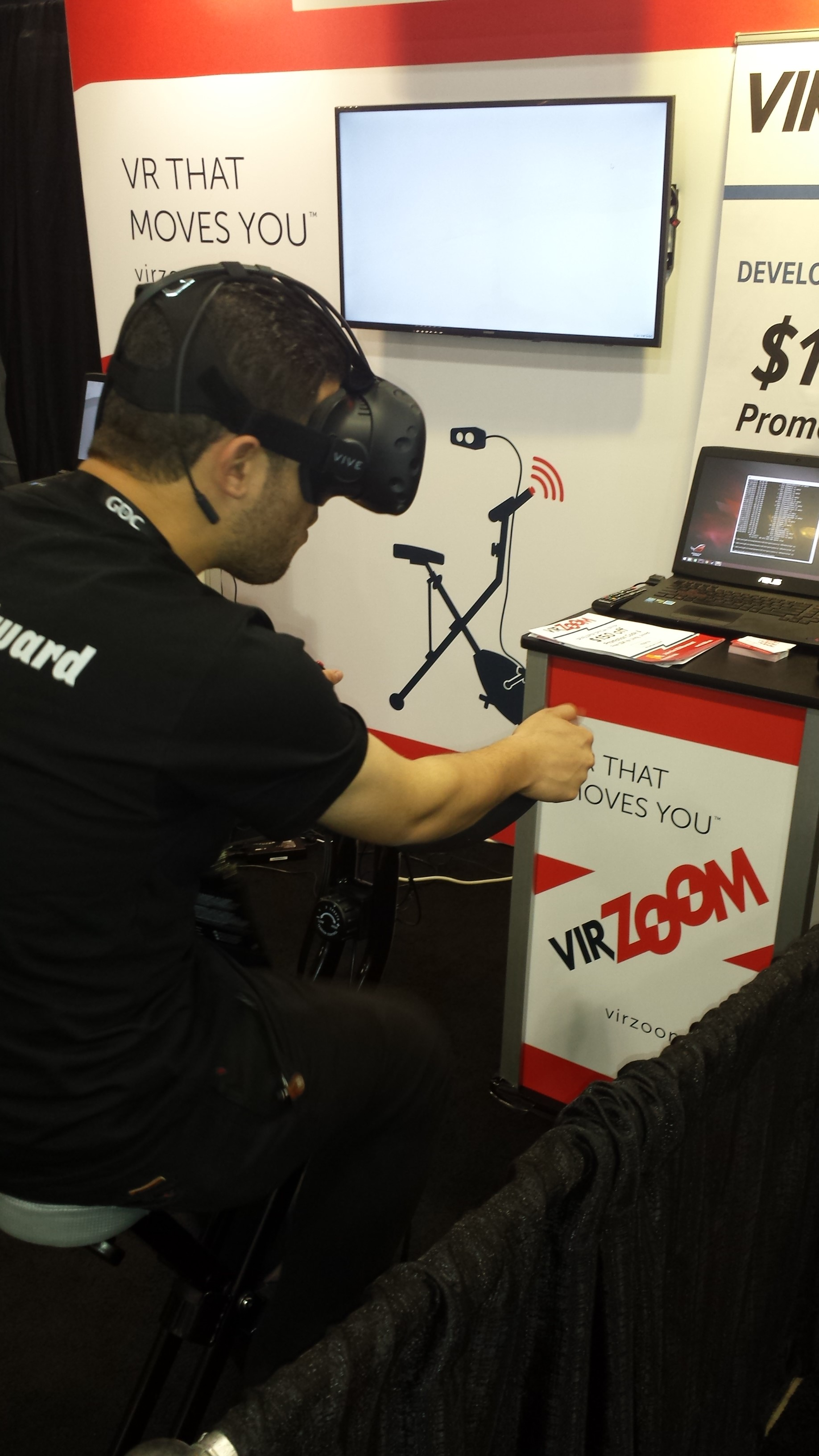 VirZoom. An exercise bike game controller. One of the surprisingly awesome VR experiences I had at GDC.