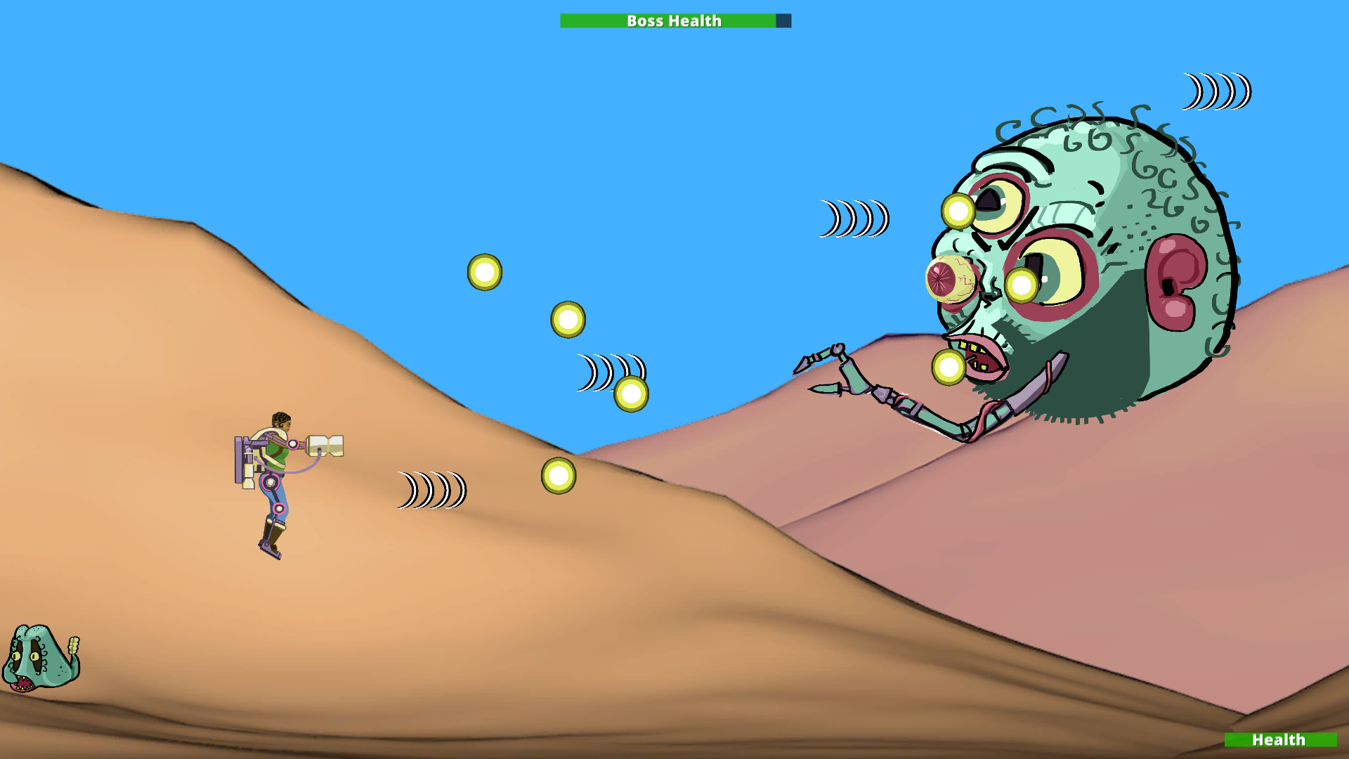 """For Global Game Jam 2017, this is """"Desert Diva in Mutant Onslaught"""". Play on the GGJ site (download link on the bottom of the page)."""