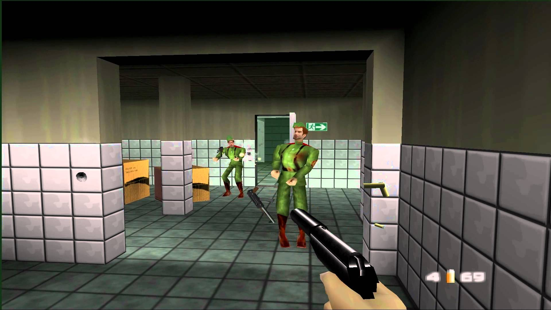 Goldeneye for the Nintendo 64. A classic. 20 years old already.