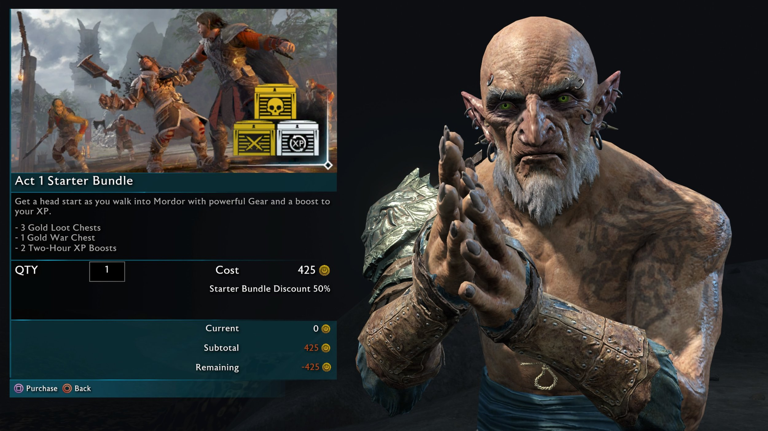 Middle Earth: Shadow of War. Microtransactions in a single player game... ffs