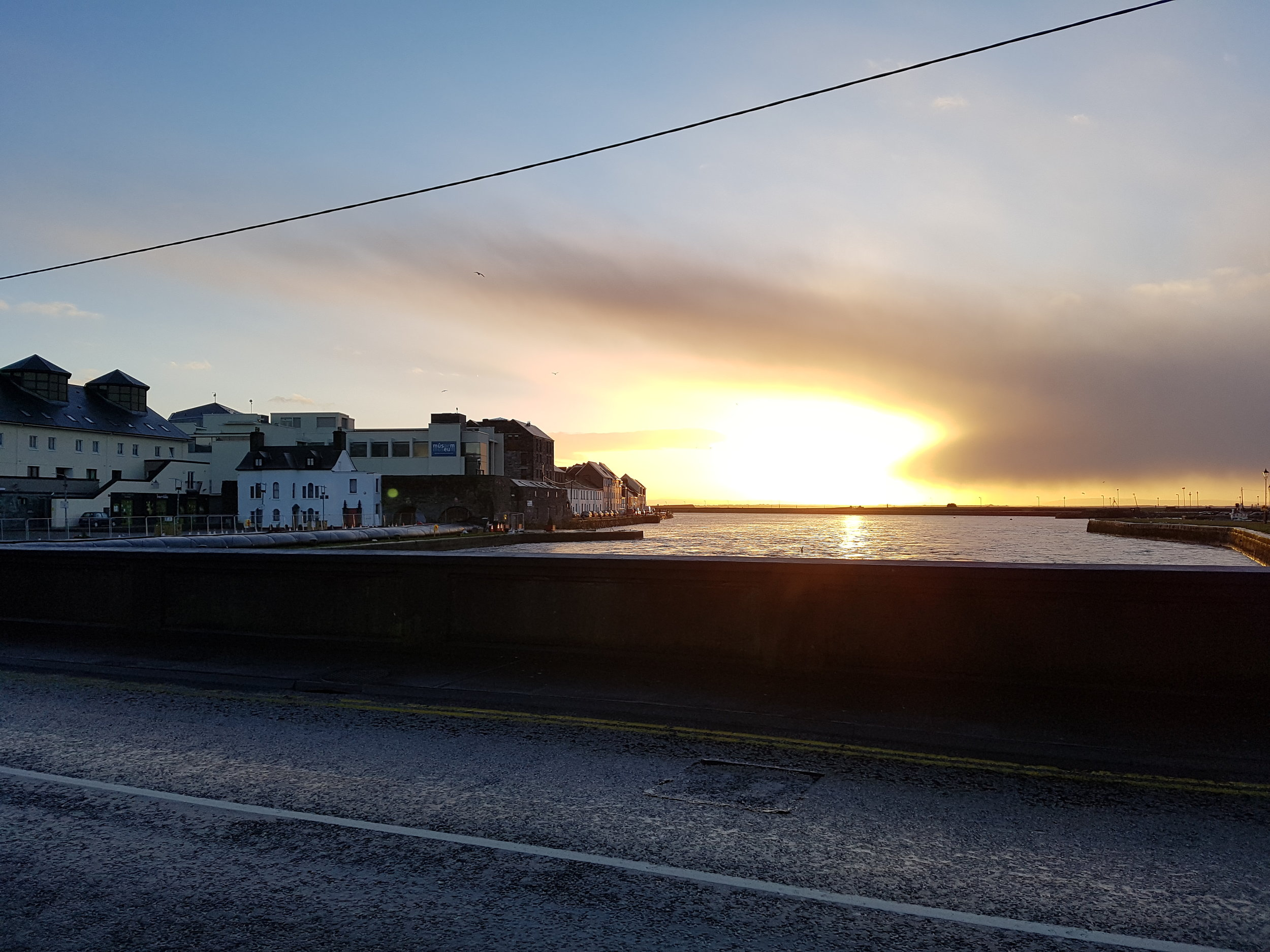 Sunrise each morning on the walk to work in Galway