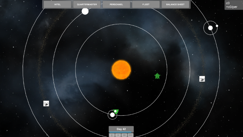 An early prototype of the strategy layer in Sons of Sol.
