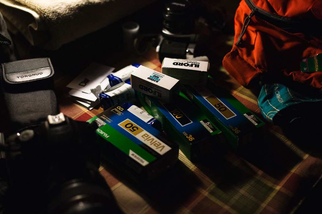 A stash of various film types when on vacation in Montana. | October 2015