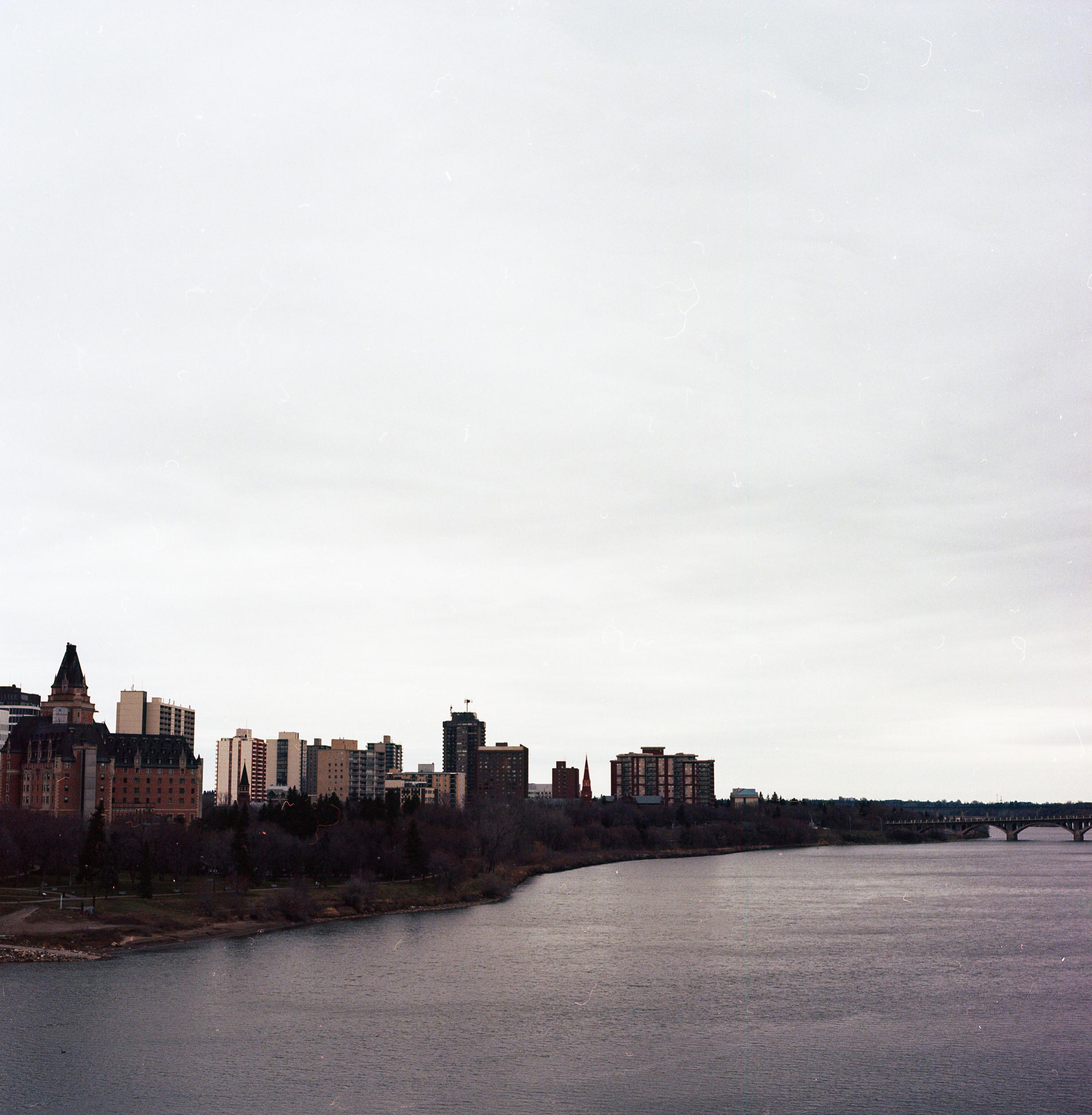 The view from Broadway Bridge in Saskatoon, Saskatchewan.| Hasselblad 500CM / Portra 160 @ 640