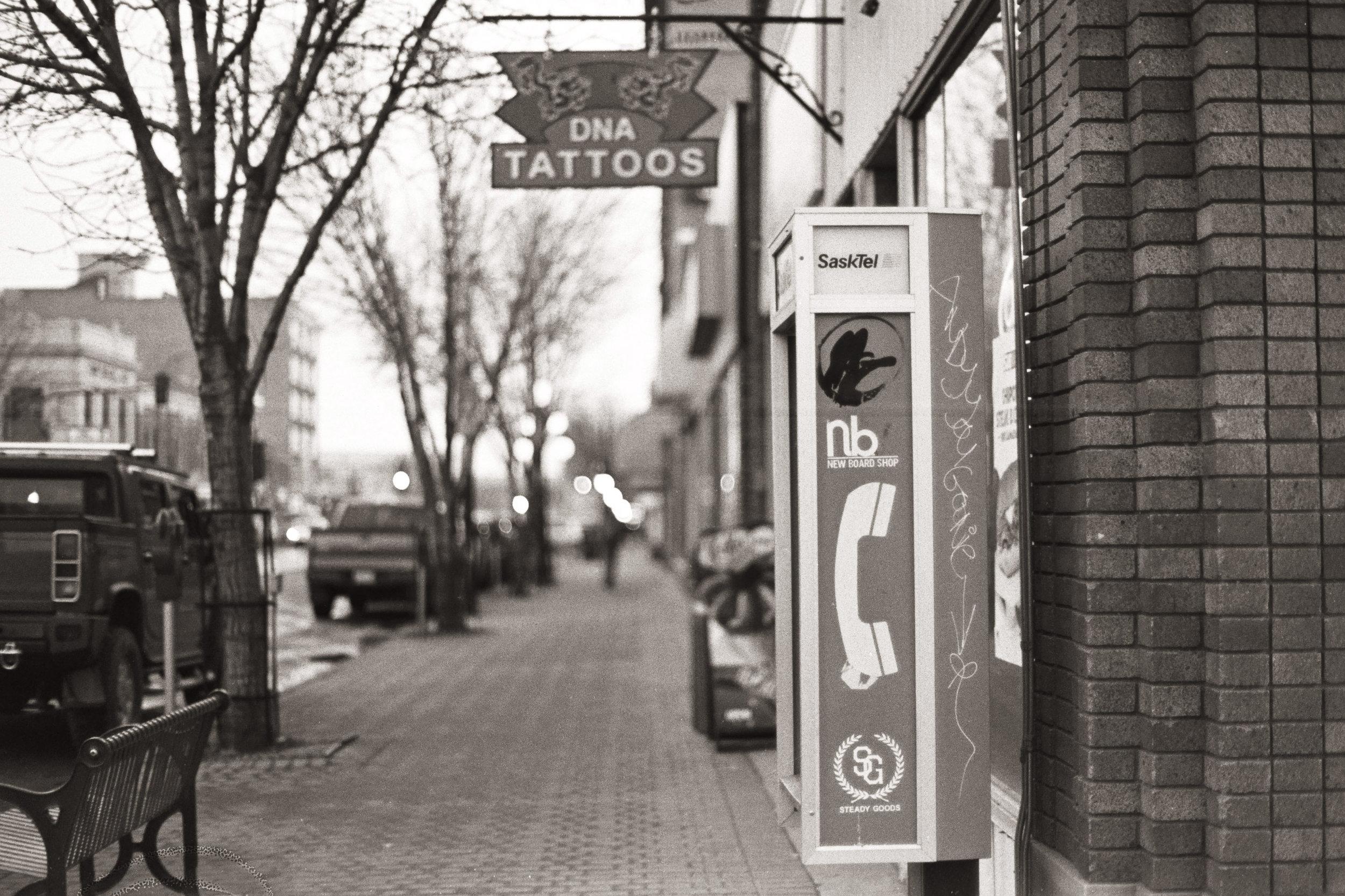 Main Street - Moose Jaw, Saskatchewan   Nikon FM3A + Nikkor 50/1.2   Fuji Neopan 400