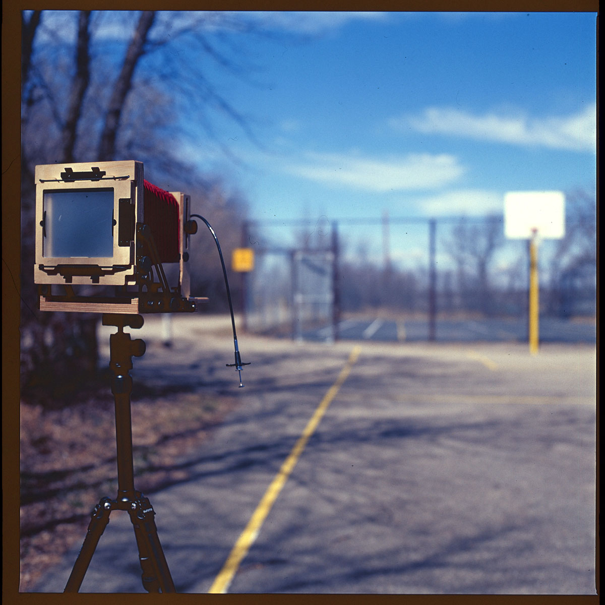 Intrepid Field Camera on a nice day  Hasselblad 500CM  Kodak E100VS